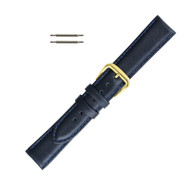 Watch Band 16MM Classic Calf  Navy Blue Leather