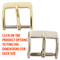 White Nickel and Yellow Gold Plated watch band buckles