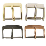 White Nickel, Yellow Gold Plated, Black and Rose Gold watch band buckles