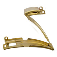 Gold Plated single fold push button watch band clasp