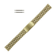 Yellow Gold Tone Metal Watch Band 18 mm