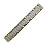 Two Tone Metal Expansion Style Watch Band