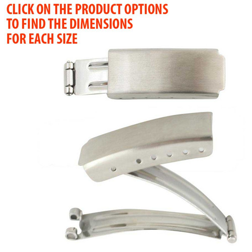 Watch Band Clasps Stainless Steel Fold Over Buckles
