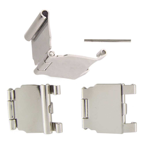 Stainless steel clasp style watch buckle extender