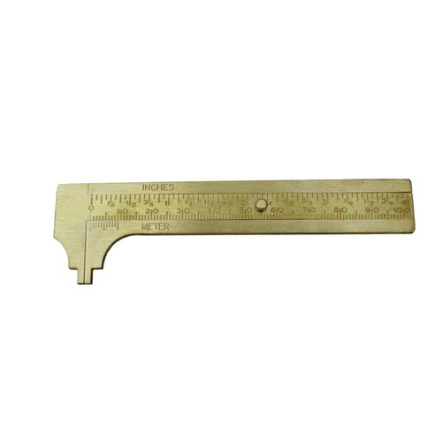 Jewelry Caliper Gauge Brass 4""