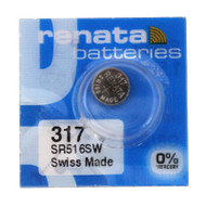 Watch Battery Renata 317 Replacement Cells Each