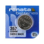 Watch Battery Renata 357 Replacement Cells Each