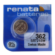 Watch Battery Renata 362 Replacement Cells Each
