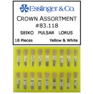 18 piece Seiko Pulsar Lorus watch crown assortment