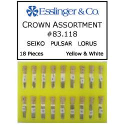 18 piece Seiko Pulsar Lorus watch crown assortment