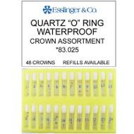 48 pieces waterproof quartz watch crown assortment