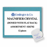 12-piece assortment of 1.40mm magnfier mineral glass watch crystals
