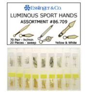 160-piece luminous sport style watch hand assortment