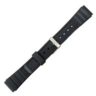 16mm Black Rubber Sport Watch band Strap