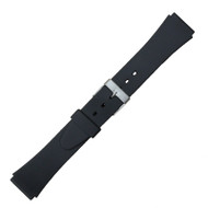 18mm Black Rubber Watch Band