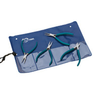 Teal Slimline Pliers Set of 4 in Pouch