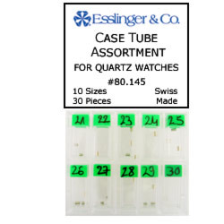 30 piece case tube assortment for quartz watches
