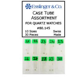 30 piece case tube assortment for quartz watches