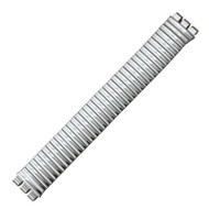 Swatch Style Expansion Band Silver Tone 19mm with Notched Lug Openings