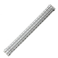 Swatch Style Expansion Band Silver Tone 17mm with Notched Lug Openings