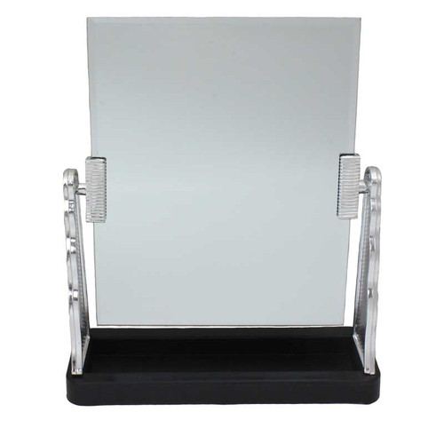 "10-1/2"" Tall Countertop Mirror with Tray for Display"
