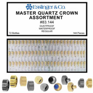 144 piece Master quartz watch crown assortment