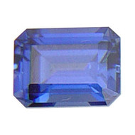 Emerald Cut Lab Created Sapphire
