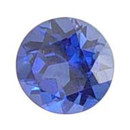 Round Lab Created Sapphire