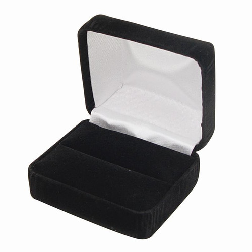 Black velour box