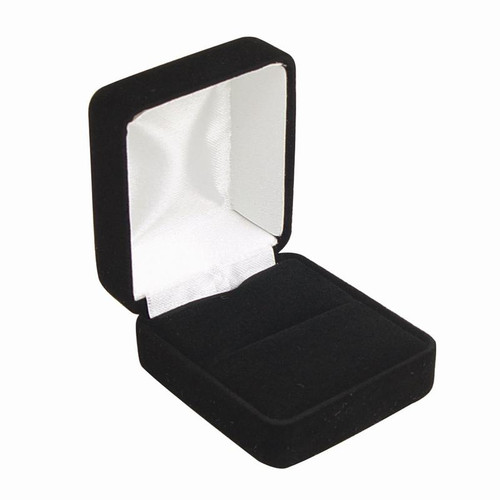 Blac velour ring box