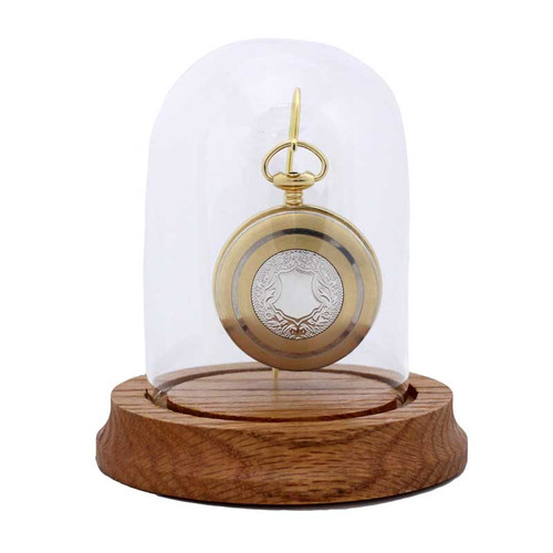 "Glass Pocket Watch Display Dome, Single Hook, 3"" x 4-1/4"""