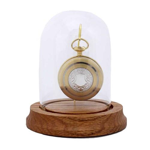 "Glass Pocket Watch Display Dome, Single Hook, 3"" x 4-1/4"""
