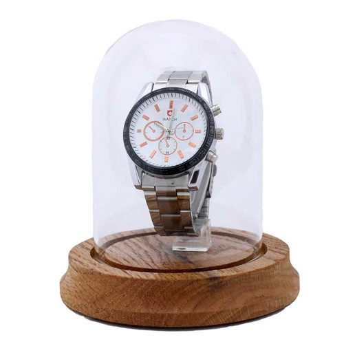 "Glass Wristwatch Display Dome, 3"" x 4 1/4"""