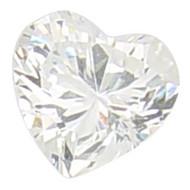 4x4 mm Heart Premium CZ