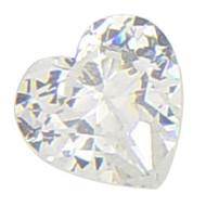10x10 mm Heart CZ