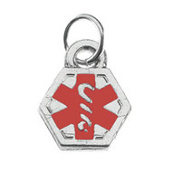 Sterling Silver Medical Charm
