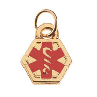 Yellow Gold Plate Medical Charm
