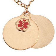 Yellow Gold Plate Medical Pendant