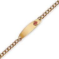 Yellow Gold Plate, Men's Medical Curb Link Bracelet