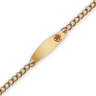 Yellow Gold Plate, Men's Medical Curb Link Bracelet
