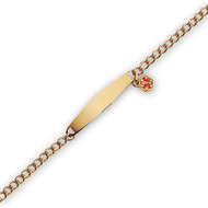 Yellow Gold Plate, Women's Medical Curb Link Bracelet