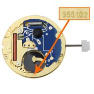 ETA Watch Movement 955.102 Quartz Movements Overall Height 3.7mm