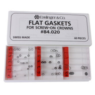 Flat Gasket Assortment for Screw Down Crowns (60 Pieces)