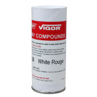 Grobet Jewelry Polishing Compound White Rouge - 1lb. Peel Back Tube