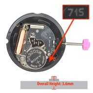 Harley Ronda Quartz 2 Hand Watch Movement HQ715-2