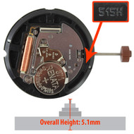 Harley Ronda Quartz Watch Movement HQ515.24H.2 24 Hour Overall Height 5.1mm