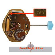 Harley Ronda 3 Hand Quartz Watch Movement HQ763G Swiss Gold Plates