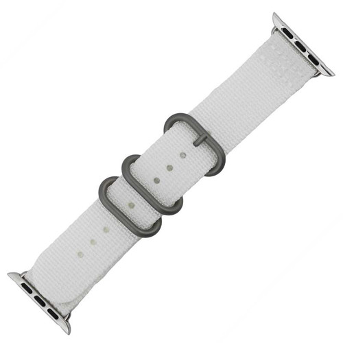 White Nylon Watch Band Made to Fit 42mm Apple® Watch