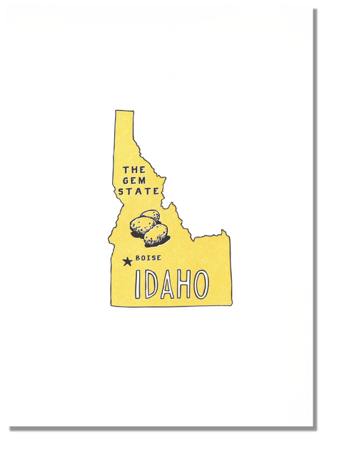 Idaho State Print: The Gem State