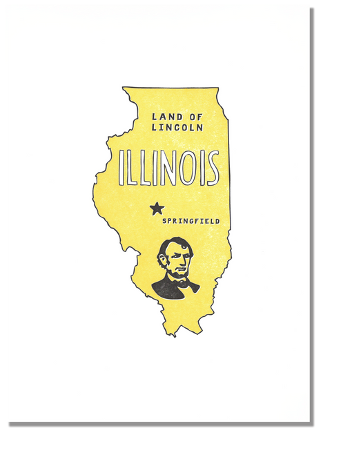 Illinois State Print: Land of Lincoln
